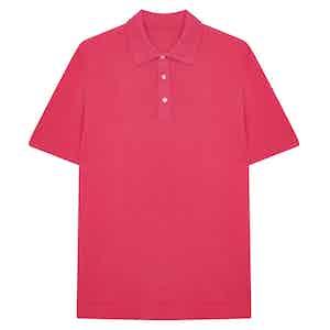 Pink Soft Cotton Short Sleeve Polo Shirt