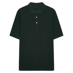 Green Soft Cotton Short Sleeve Polo Shirt
