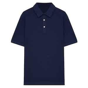 Blue Soft Cotton Short Sleeve Polo Shirt