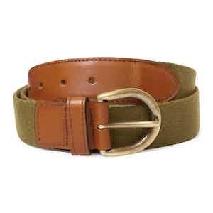 Green Webbing Leather Belt