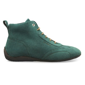 Green Suede Iconic Medium Driving Shoe