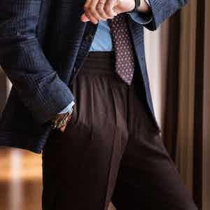 Bordeaux Wool Manny Trousers