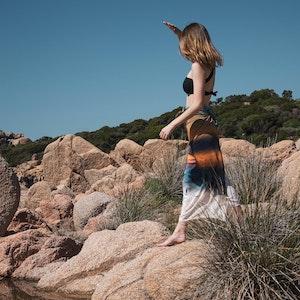 Murtoli Beach Granite Island X Tara Matthews Sarong