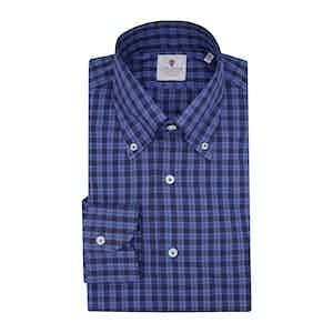 Blue Flannel Tartan Shirt