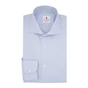 Light Blue Cotton Micro Check Classic Shirt