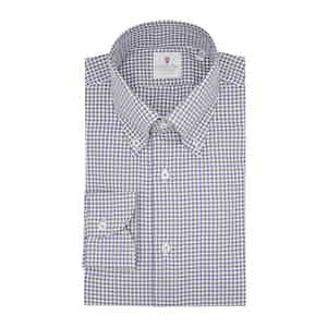 Brown and Brown Cotton Bicolor Check Classic Shirt