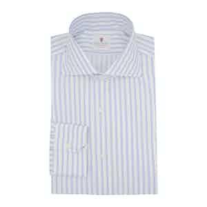 Light Blue Cotton Striped Super Oxford Shirt
