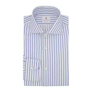 Blue Cotton Striped Super Oxford Shirt