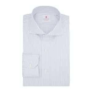 Light Blue Cotton Duke Twill Striped Shirt