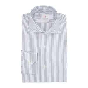 Blue Cotton Duke Twill Striped Shirt