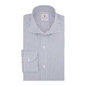 Blue Cotton Twill Sriped Shirt