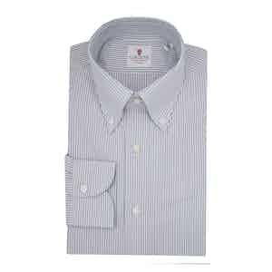 American Dark Blue Cotton Oxford Shirt