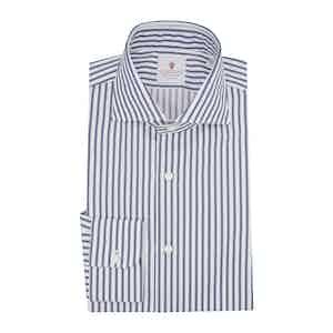 Blue Cotton Houston Striped Shirt