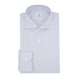 Dark Blue Cotton Super Oxford Striped Shirt