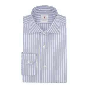 Light Blue Cotton Super Oxford Striped Shirt