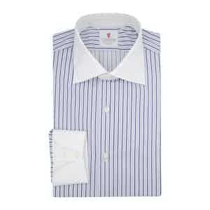 Light Blue Cotton Cindy Contrast Shirt