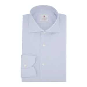 Blue Organic Poplin Cotton Classic Shirt