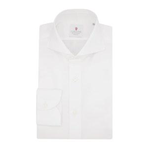 White Organic Poplin Cotton Classic Shirt