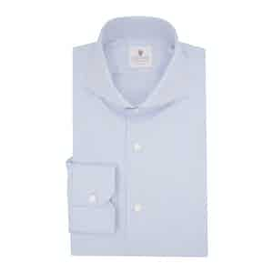 Blue Organic Twill Cotton Classic Shirt