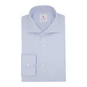 Blue Organic Cotton Twill Spina Shirt