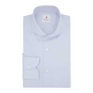 Blue Organic Cotton Twill Shirt