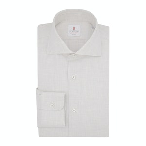 Light Beige Flannel Spina Shirt