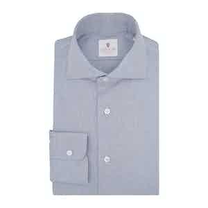 Indigo Blue Flannel Spina Shirt