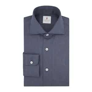 Dark Blue Flannel Spina Shirt