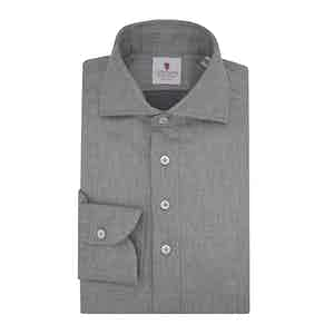 Grey Flannel Long-Sleeved Polo Shirt