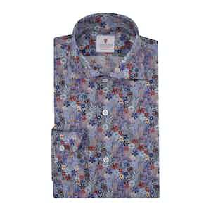 Blue Cotton Printed Dandelion Shirt