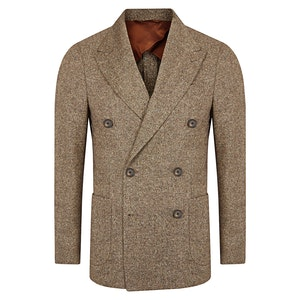 Brown Wool Double-Breasted Suit