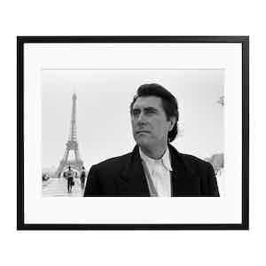 Bryan in Paris Black and White Print