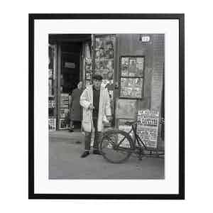Chet Standing In The Street, Rome Black and White Print