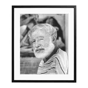 Hemingway 1960 Black and White Print