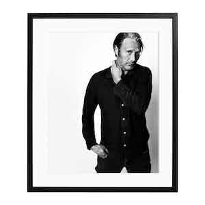 Mads Mikkelsen Black and White Print