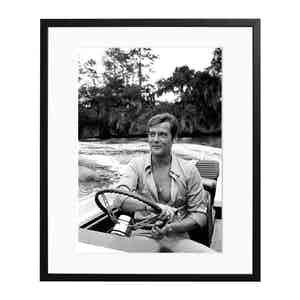 Roger Moore, 1972 Black and White Print
