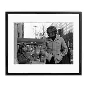 Redford with His Daughter Black and White Print