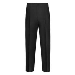Black Flannel Drawstring Convertible Trousers