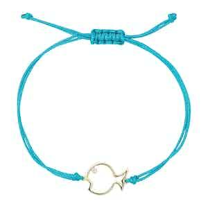 Turquoise Diamond Fish Bracelet