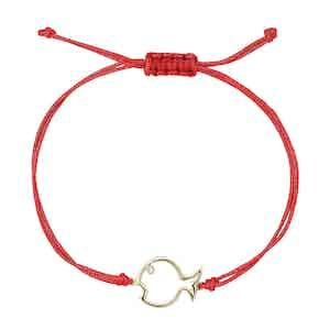 Red Diamond Fish Bracelet