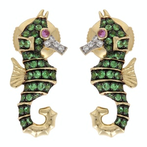Yellow Gold Hippocampe Earring