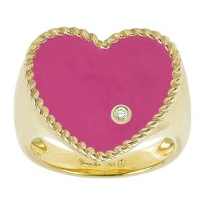 Neon Heart Signet Ring