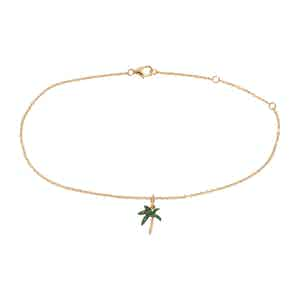 Gold Palm Ankle Bracelet