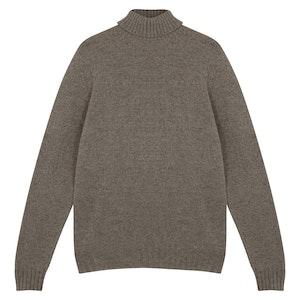 Beige Soft Cashmere Rollneck Sweater