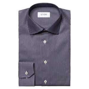 Navy Blue Cotton Slim Fit Shirt