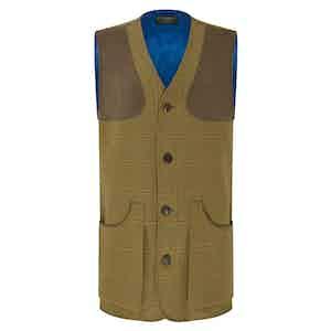 Green Wool Tweed Shooting Vest