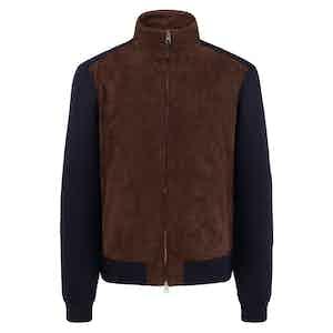 Brown Cashmere Zip-Up Grosvenor Sweater