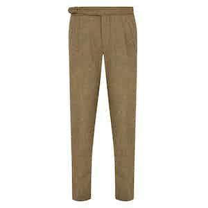 Beige Wool Tweed Mayfair Trousers