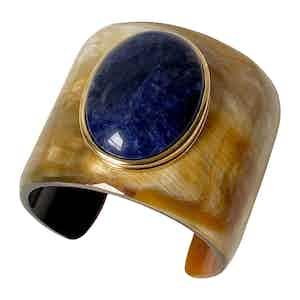 Blue Horn and Sodalite Gaia Cuff I