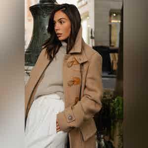 AK MC Ladies Contemporary Duffel Coat in Caramel Camel Hair